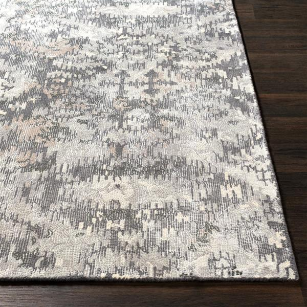 Surya Antigua Bohemian Area Rug - 8-ft  x 10-ft - Rectangular - Charcoal