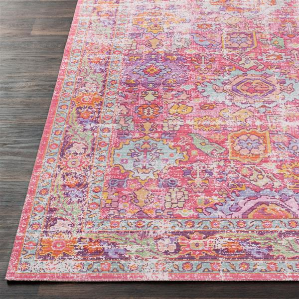 Surya Antioch Updated Traditional Area Rug - 5-ft 3-in x 7-ft 3-in - Rectangular - Pink
