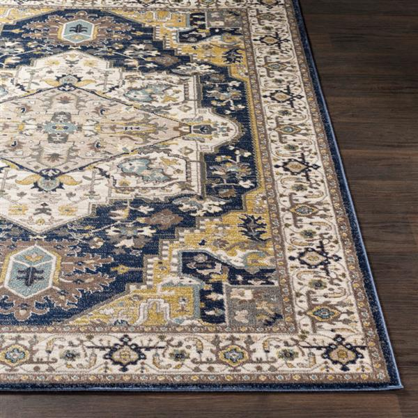 Surya Athen Updated Traditional Area Rug - 5-ft 3-in x 7-ft 3-in - Rectangular - Navy