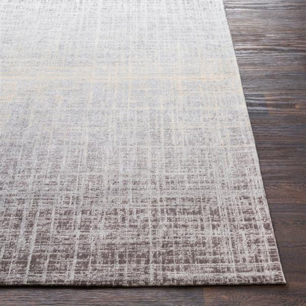 Surya Amterdam Solid Area Rug - 8-ft  x 10-ft   - Rectangular - Grey