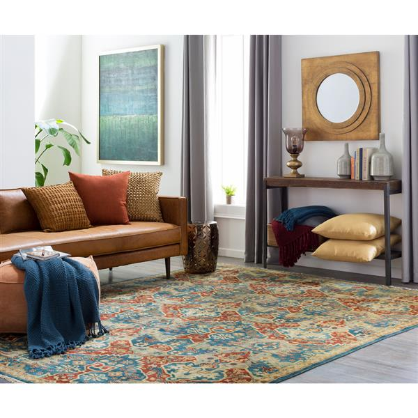 Surya Antolya Traditional Area Rug - 3-ft 9-in x 5-ft 9-in- Rectangular - Blue