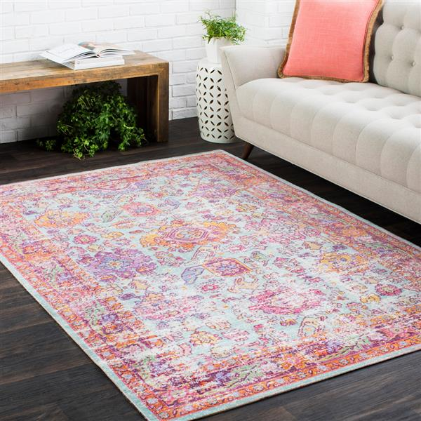 Surya Antioch Updated Traditional Area Rug - 9-ft  x 13-ft  - Rectangular - Seafoam