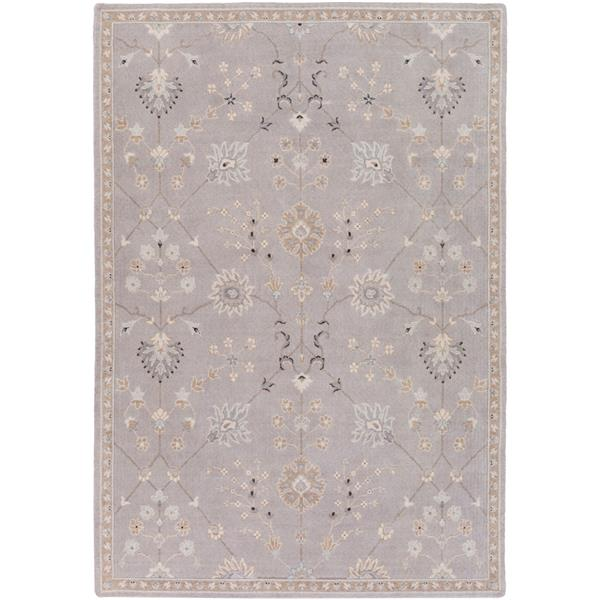 Surya Andromeda Traditional Area Rug - 5-ft 3-in x 7-ft 6-in- Rectangular - Taupe