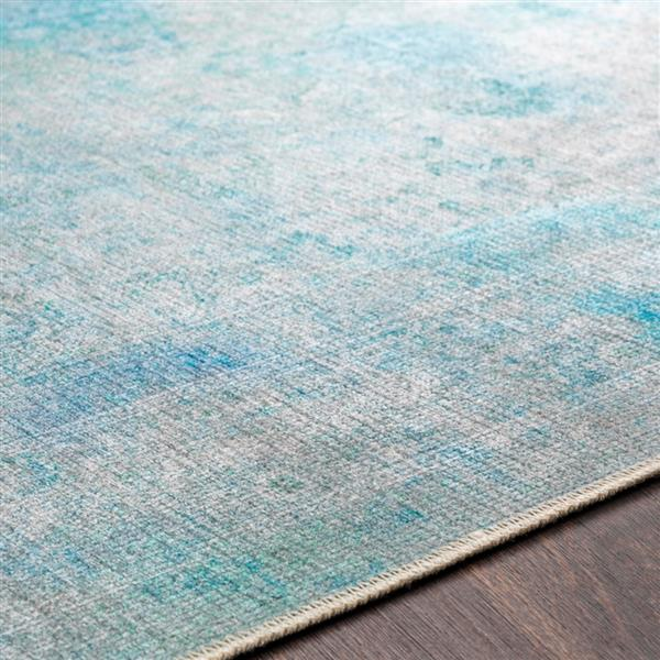 Surya Amelie Updated Traditional Area Rug - 7-ft 10-in x 10-ft 3-in - Rectangular - Teal