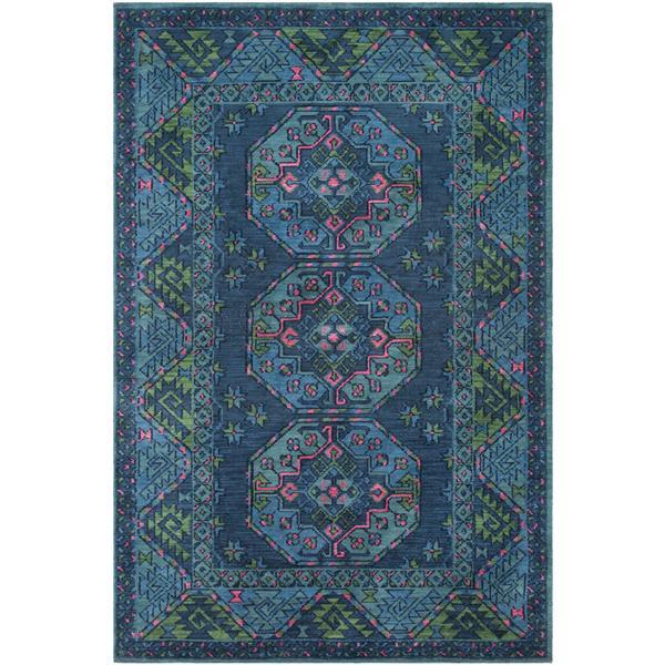 Surya Arabia Bohemian Area Rug - 7-ft 6-in x 9-ft 6-in- Rectangular - Blue/Seafoam