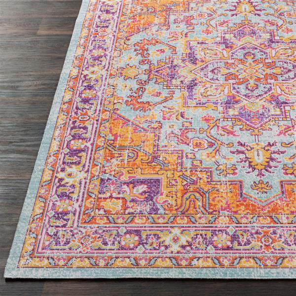 Surya Antioch Updated Traditional Area Rug - 3-ft 11-in x 5-ft 11-in - Rectangular - Seafoam