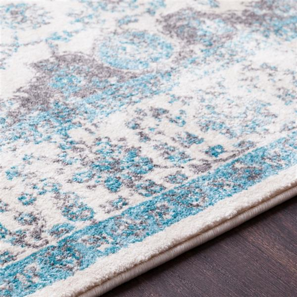 Surya Aberdine Updated Traditional Area Rug - 5-ft 2-in x 7-ft 6-in - Rectangular - Teal