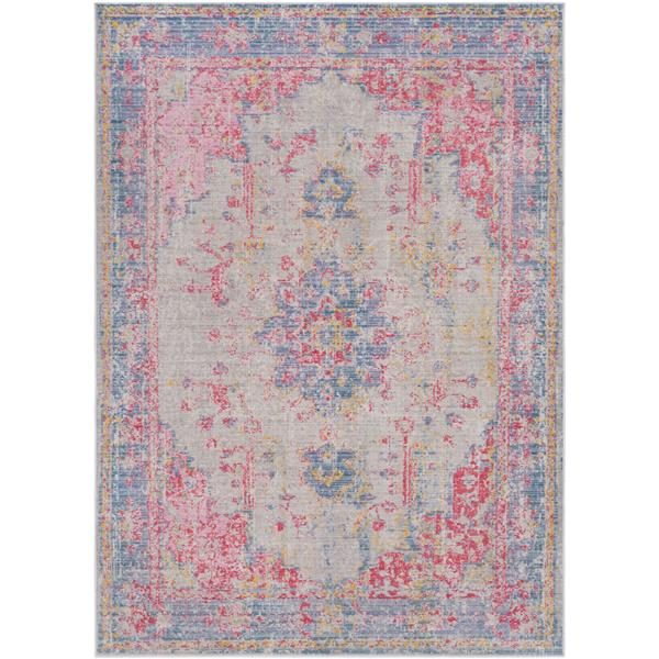 Surya Antioch Updated Traditional Area Rug - 5-ft 3-in x 7-ft 3-in - Rectangular - Violet