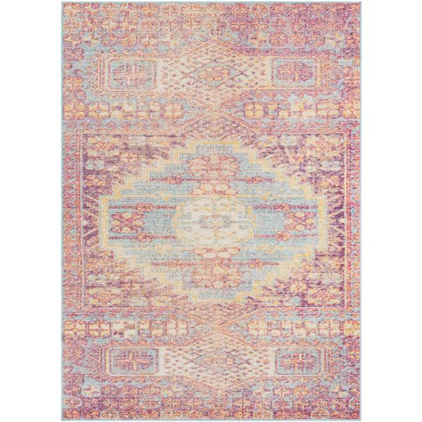 Surya Antioch Updated Traditional Area Rug - 5-ft 3-in x 7-ft 3-in - Rectangular - Blue
