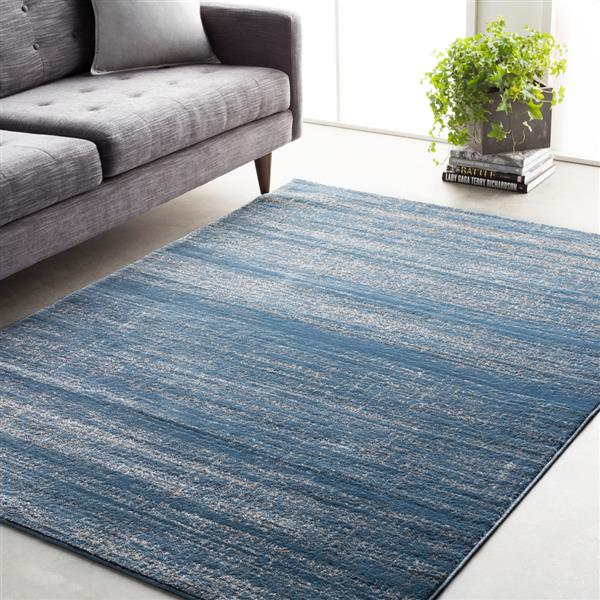 Surya Amadeo Modern Area Rug - 5-ft 3-in x 7-ft 3-in- Rectangular - Blue
