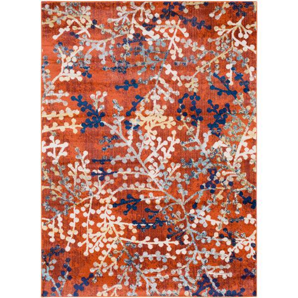 Surya Ararat Transitional Area Rug - 7-ft 10-in x 10-ft 3-in - Rectangular -  Bright Orange