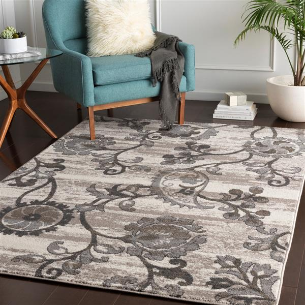 Surya Agra Transitional Area Rug - 5-ft 3-in x 7-ft 3-in- Rectangular - Taupe