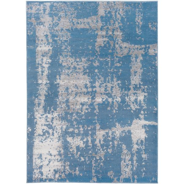Surya Amadeo Modern Area Rug - 7-ft 10-in x 10-ft 2-in- Rectangular - Blue