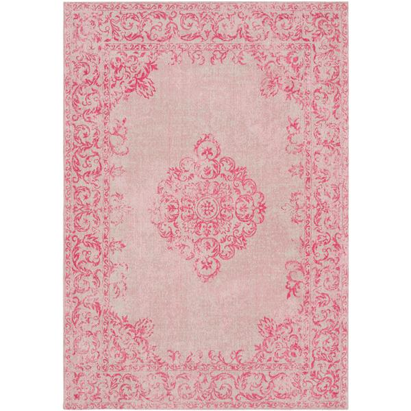 Surya Amterdam Updated Traditional Area Rug - 8-ft  x 10-ft  - Rectangular - Pink