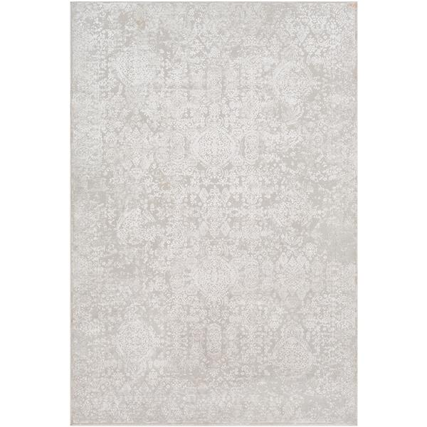 Surya Aisha Updated Traditional Area Rug - 6-ft 7-in x 9-ft 6-in - Rectangular - Grey