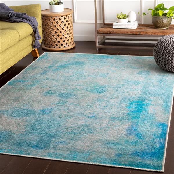 Surya Amelie Updated Traditional Area Rug - 5-ft 3-in x 7-ft 3-in - Rectangular - Teal
