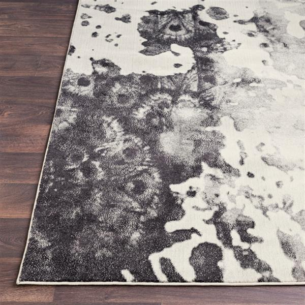 Surya Aberdine Modern Area Rug - 7-ft 10-in x 10-ft 6-in- Rectangular - Black