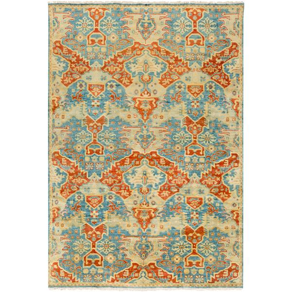 Surya Antolya Traditional Area Rug - 5-ft 6-in x 8-ft 6-in- Rectangular - Blue