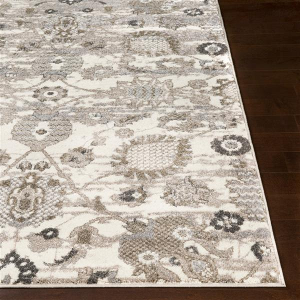 Surya Agra Updated Traditional Area Rug - 7-ft 10-in x 10-ft 3-in - Rectangular - Grey