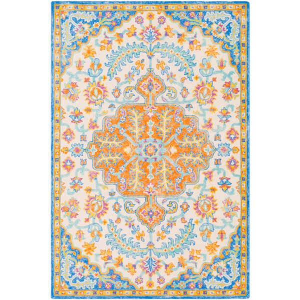 Surya Antigua Updated Traditional Area Rug - 8-ft  x 10-ft  - Rectangular - Orange