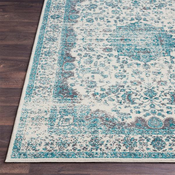 Surya Aberdine Updated Traditional Area Rug - 7-ft 10-in x 10-ft 6-in - Rectangular - Teal
