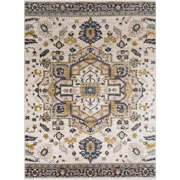 Surya Athen Updated Traditional Area Rug - 5-ft 3-in x 7-ft 3-in - Rectangular - Ivory