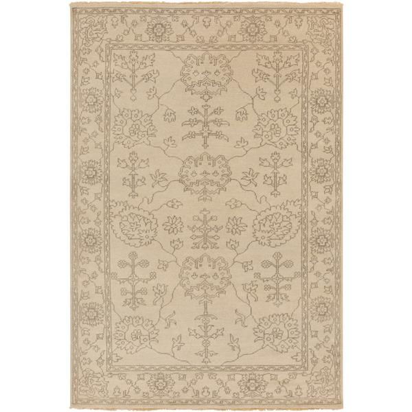 Surya Ainsley Traditional Area Rug - 5-ft 6-in x 8-ft 6-in- Rectangular - Khaki