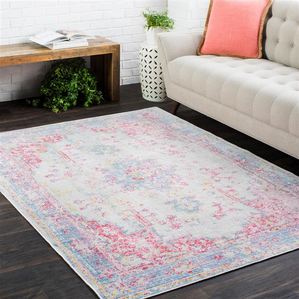 Surya Antioch Updated Traditional Area Rug - 3-ft 11-in x 5-ft 11-in - Rectangular - Violet