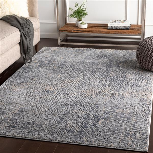 Surya Alpine Modern Area Rug - 6-ft 7-in x 9-ft 6-in- Rectangular - Charcoal