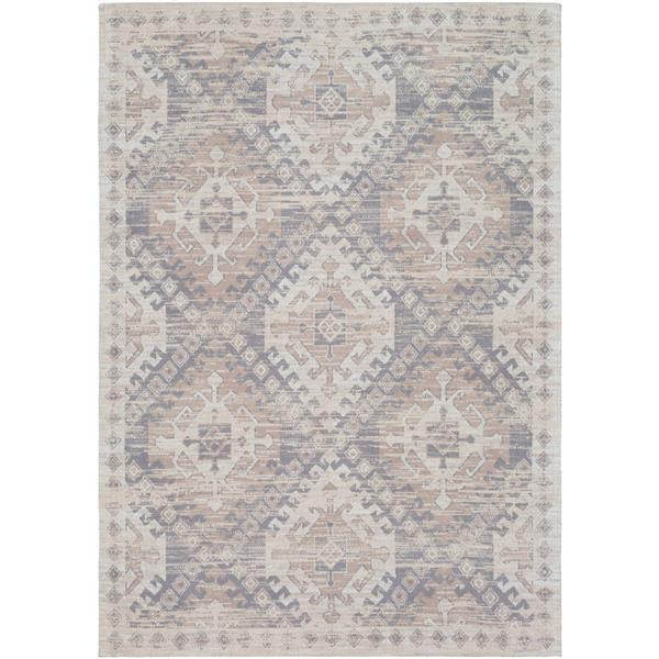 Surya Amterdam Bohemian Area Rug - 5-ft  x 7-ft 6-in- Rectangular - Taupe