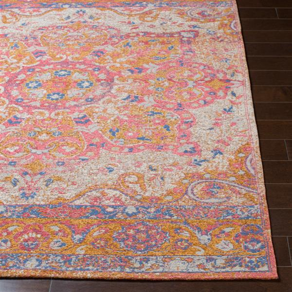 Surya Amterdam Updated Traditional Area Rug - 5-ft  x 7-ft 6-in - Rectangular - Pink