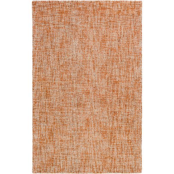 Surya Aiden Texture Area Rug - 8-ft  x 10-ft  - Rectangular -  Burnt Orange
