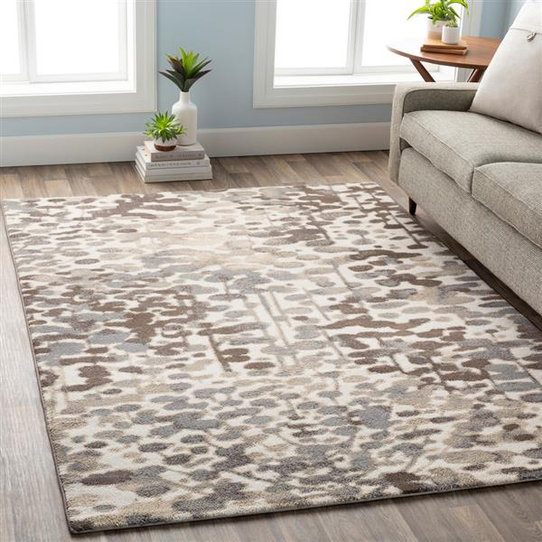 Surya Apricity Modern Area Rug - 5-ft 3-in x 7-ft 6-in- Rectangular - Taupe