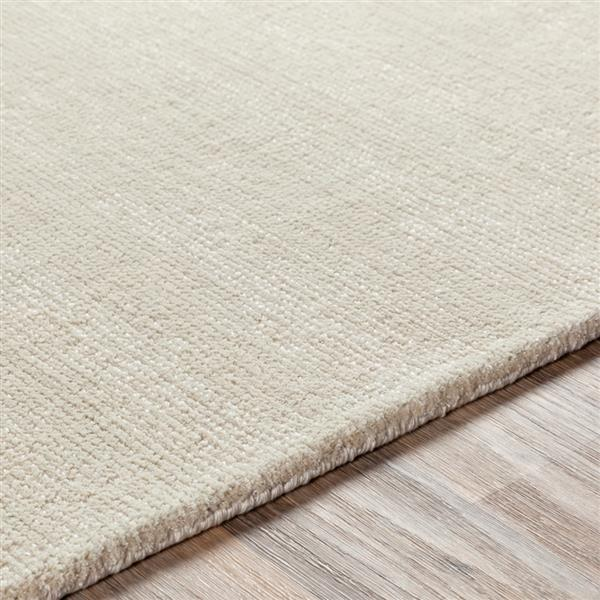 Surya Aspen Solid Area Rug - 9-ft  x 12-ft   - Rectangular - Khaki
