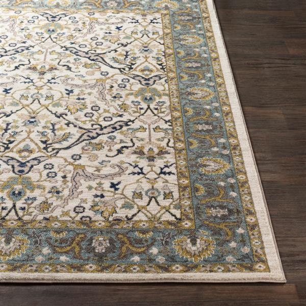 Surya Athen Updated Traditional Area Rug - 7-ft 10-in x 10-ft 3-in - Rectangular - Sky Blue