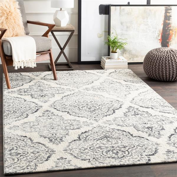 Surya Apricity Transitional Area Rug - 5-ft 3-in x 7-ft 6-in- Rectangular - Black