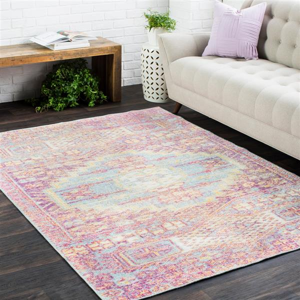 Surya Antioch Updated Traditional Area Rug - 3-ft 11-in x 5-ft 11-in - Rectangular - Blue