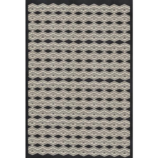 Surya Agostina Bohemian Area Rug - 8-ft  x 10-ft - Rectangular - Black