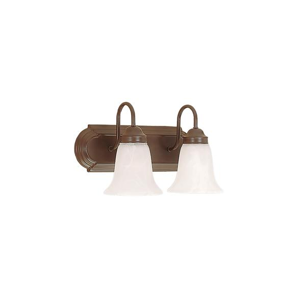 Millenium Lighting 2-Light Vanity Light With Faux Alabaster Glass - Bronze