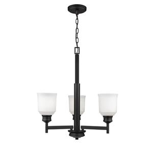 Millenium Lighting Burbank  3-Light Chandelier - Matte Black