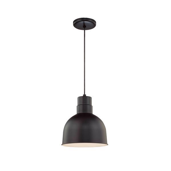 Millenium Lighting R Series 1-Light Cord Hung Pendant Light - 10-in - Satin Black