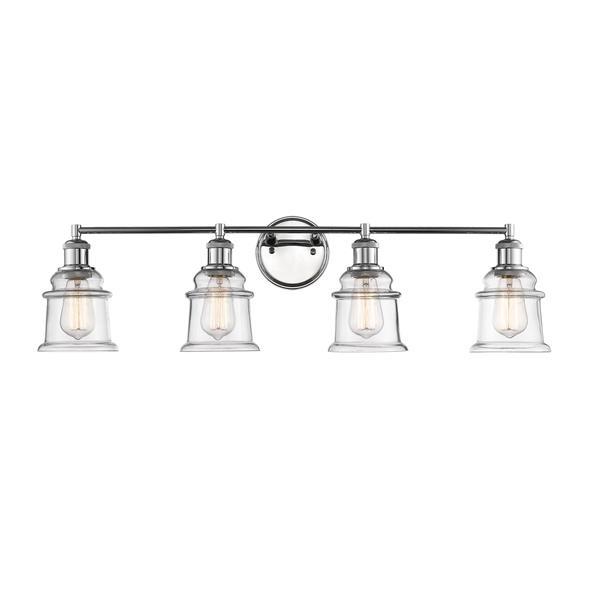 Millenium Lighting 4-Light Vanity Light With Clear Glass - Chrome