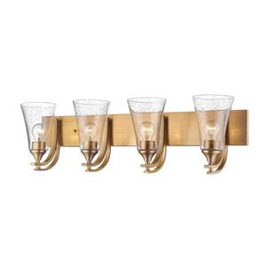 Millenium Lighting Natalie 4-Light Vanity Light With Clear Seeded Glass - Heirloom Bronze