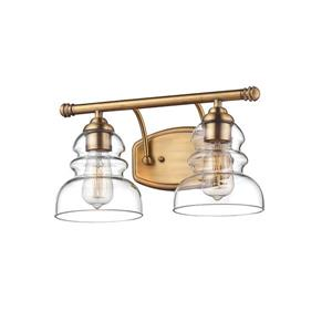 Millenium Lighting Brighton 2-Light Vanity Light With Clear Glass  - Heirloom Bronze