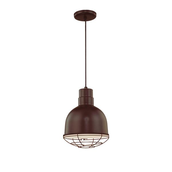 Millenium Lighting R Series 1-Light Cord Hung Pendant Light - 10-in - Antique Bronze