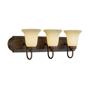 Millenium Lighting 3-Light Vanity Light With Turinian Scavo Glass - Rubbed Bronze