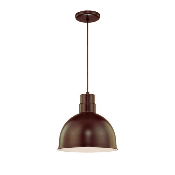 Millenium Lighting R Series 1-Light Cord Hung Pendant Light - 12-in - Antique Bronze