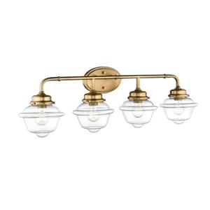 Millenium Lighting Neo-Industrial  4-Light Vanity Light With Clear  Glass - Heirloom Bronze