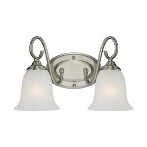 Millenium Lighting 4-Light Vanity Light With India Scavo Glass - Satin Nickel
