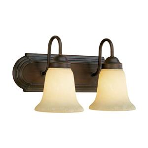 Millenium Lighting 2-Light Vanity Light With Turinian Scavo Glass - Rubbed Bronze